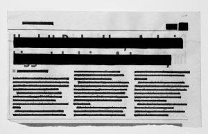 censored newspaper article